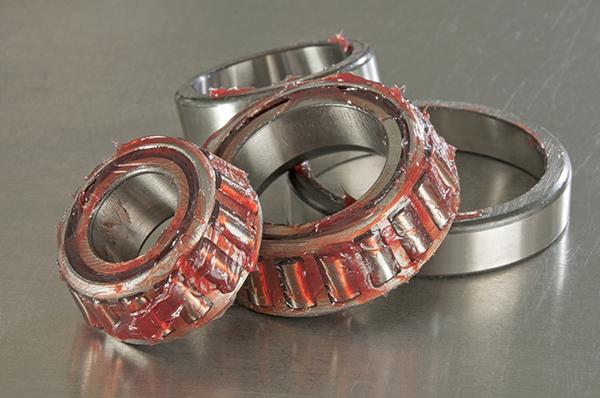 Greased bearings red